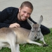 Me and a Roo at Australia Zoo