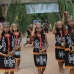 Penari perempuaan, or traditional female dancers, celebrate the arrival of the action agents to Temb